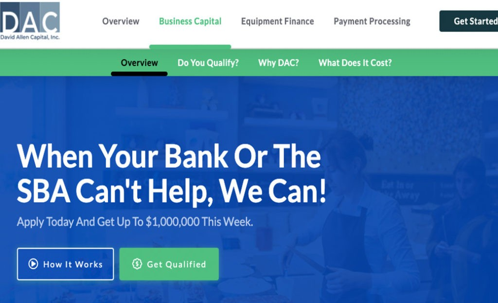 David Allen Capital-USA Funding Pros-Get the best business funding available for your business, start up or investment. 0% APR credit lines and credit line available. Unsecured lines of credit up to 200K. Quick approval and funding.